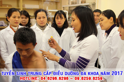 Tuyển sinh Trung cấp Điều dưỡng đa khoa Hà Nội năm 2017