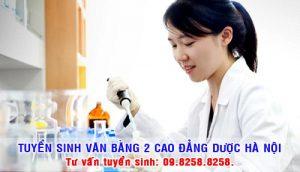 Tuyen sinh văn bằng 2 cao đẳng Dược Hà Nội