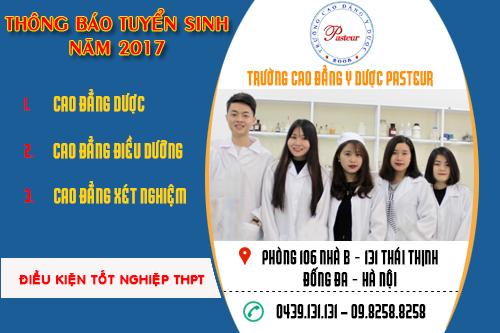 Trường Cao đẳng Y Dược Pasteur tuyển sinh năm 2017