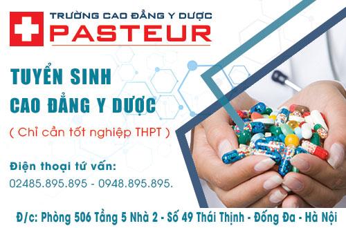 Trường Cao đẳng Y Dược Pasteur thông báo xét tuyển với điều kiện tốt nghiệp THPT