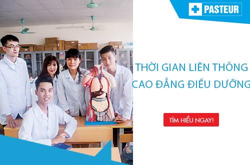 Thời gian đào tạo Liên thông Cao đẳng Điều dưỡng Hà Nội chỉ 1,3 năm