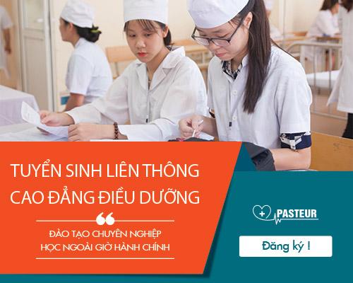 Thông báo tuyển sinh học liên thông Cao đẳng điều dưỡng của Cao đẳng Y dược Pasteur
