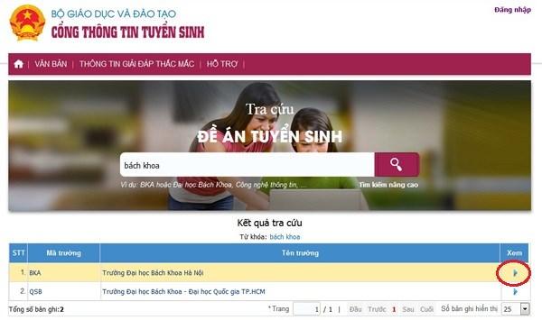 Hướng dẫn tra mã trường, mã ngành Đại học trên mạng cho kỳ thi THPT