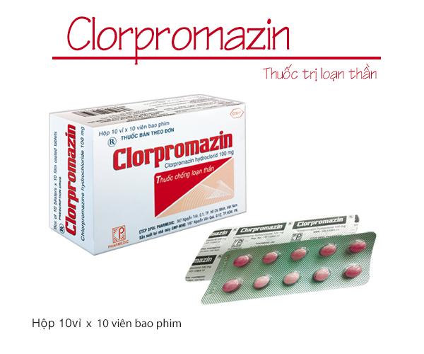 Thuốc hệ thần kinh Clorpromazin