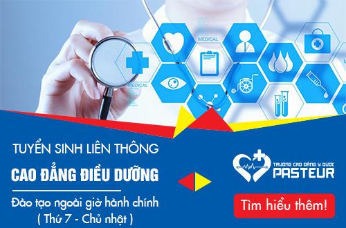 Trường Cao đẳng Y Dược Pasteur tuyển sinh Liên thông Cao đẳng Điều dưỡng Hà Nội