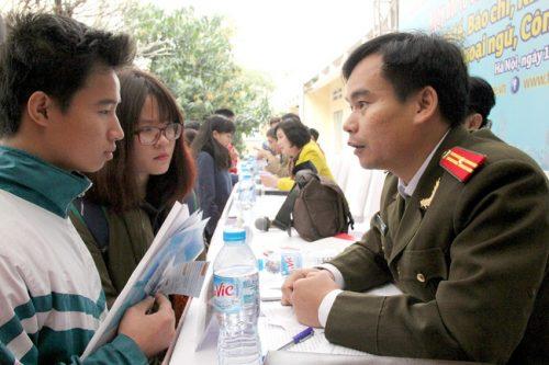 Ngưỡng đảm bảo chất lượng đầu tại các trường công an, quân đội vào là 17,75 điểm