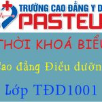 Thời khoá biểu lớp TDD1001