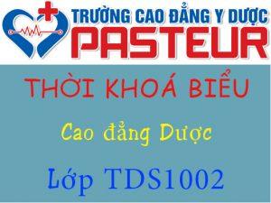 Thời khoá biểu lớp TDS1002