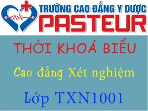 Thời khoá biểu lớp TXN1001