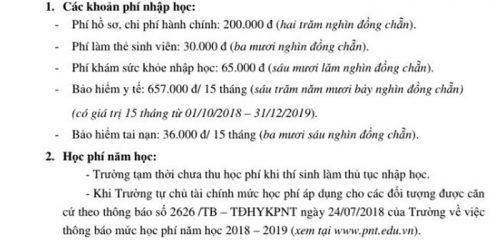 HiệnĐại học Y khoa Phạm Ngọc Thạch chưa thu học phí trong năm học mới với sinh viên
