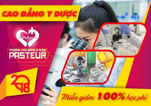 Năm 2018 Trường Cao đẳng Y dược Pasteur miễn giảm 100% học phí năm 2018