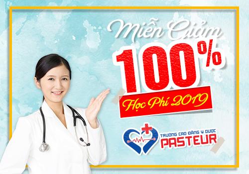 Trường Cao đẳng Y Dược Pasteur tuyển sinh đào tạo nhiều ngành Y tế mũi nhọn với chế độ miễn giảm 100% học phí năm 2019