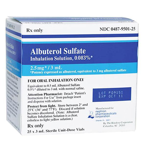 Thông tin cơ bản về thuốc Albuterol